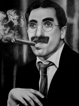Portrait of Groucho Marx